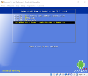 Installation – Install Android-x86 to harddisk